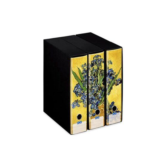vaso con pianta di iris raccoglitore kaos