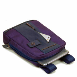 CA3084BR BLU PIQUADRO SHOULDER BAG PORTA TABLET NYLON/PELLE