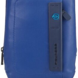 CA3084P15 PIQUADRO BORSELLO IN PELLE BLU