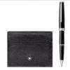 MONTBLANC 117088 SET CON ROLLER PIX BLACK PORTA CARTE DI CREDITO