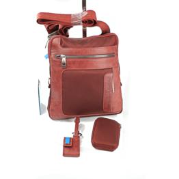 Piquadro ca1358fr rosso mattone borsello
