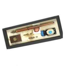 Canotto stilografica Rubinato 3 pennini e tampone